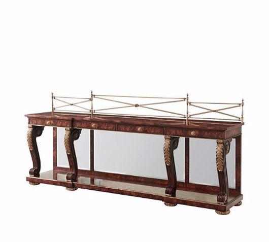 Picture of A MAHOGANY BREAKFRONT BUFFETS / SIDEBOARDS