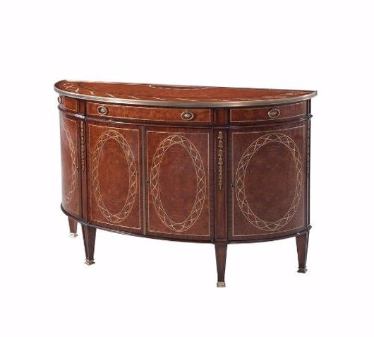 Picture of A FINELY INLAID BOWFRONT DECORATIVE CHEST