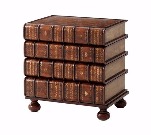 Picture of A HAND CARVED AND GILT FAUX BOOK NIGHTSTAND
