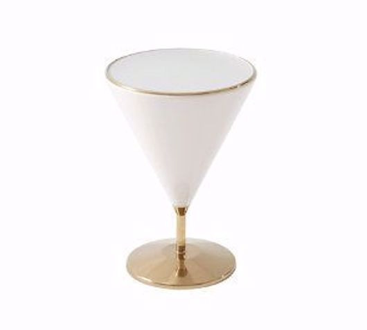Picture of 'PEBBLE' MIXOLOGY (POLISHED BRASS, SMALL) ACCENT TABLE